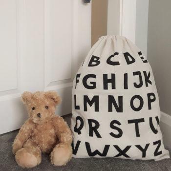 Cute Alphabet Storage Laundry Bag