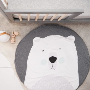 Polar Bear Playmat for Tummy time