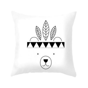 Bear Cushion Cover Nordic Style