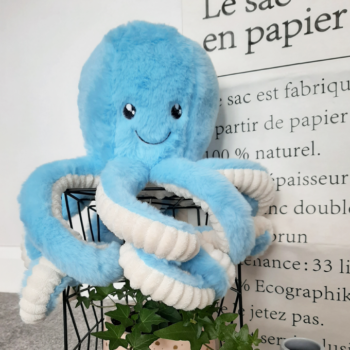Blue Cuddly Octopus Plush