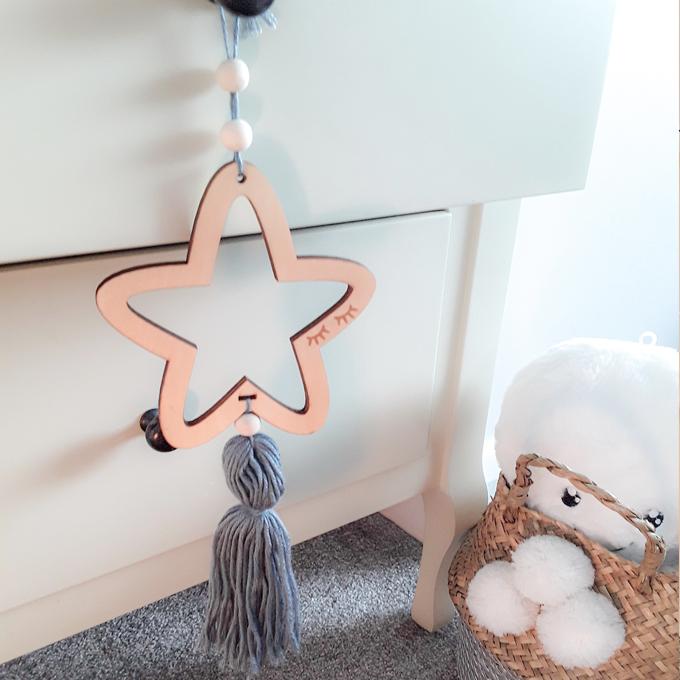 Decorative Hanging Star Grey