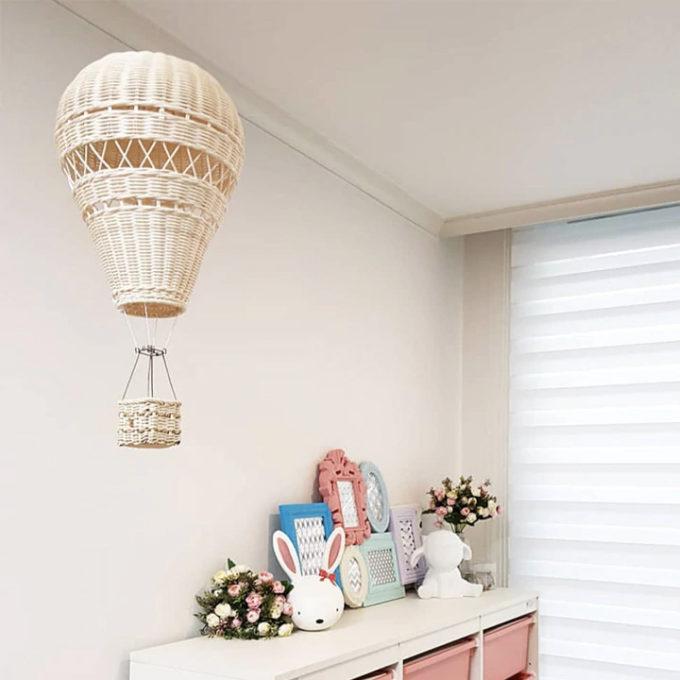 Hanging Hot Air Balloon Rattan