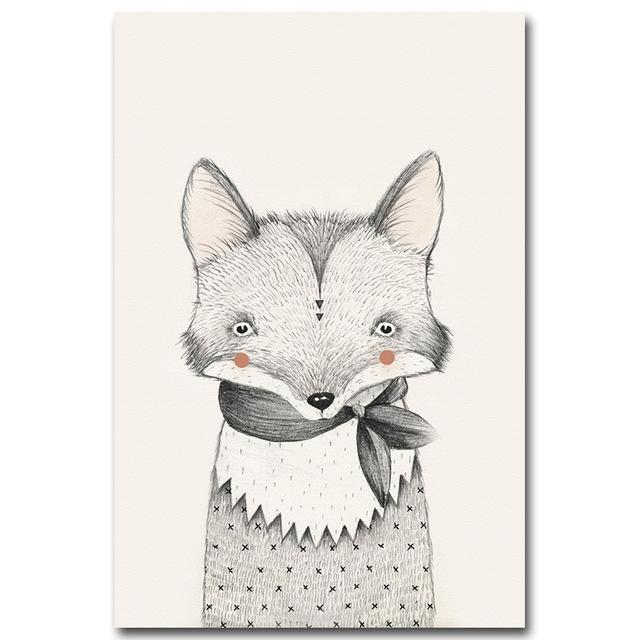 Scandi Fox Art Print