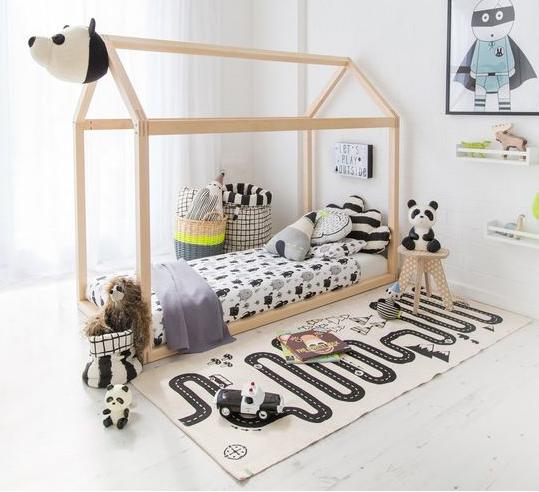 Kids Nursery Playmat Racing car Design