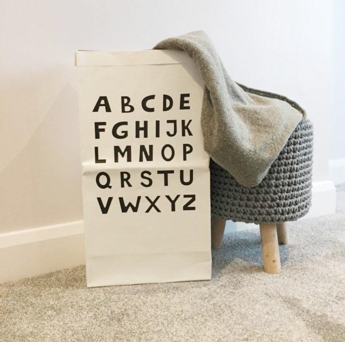 Large Paper Storage Bag Decorative