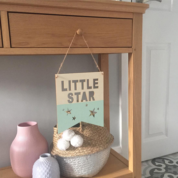 Decorative Little Star wooden sign design