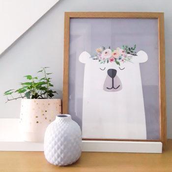 Nordic Bear A3 Print