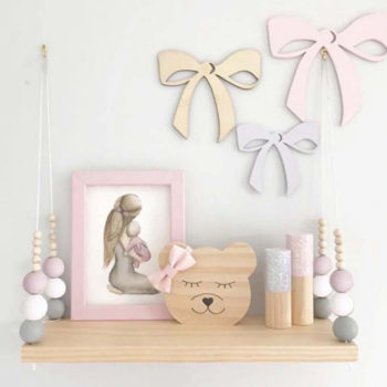 Nordic shelf for kids room