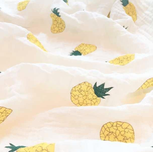 Pineapple Muslin Swaddling Blanket