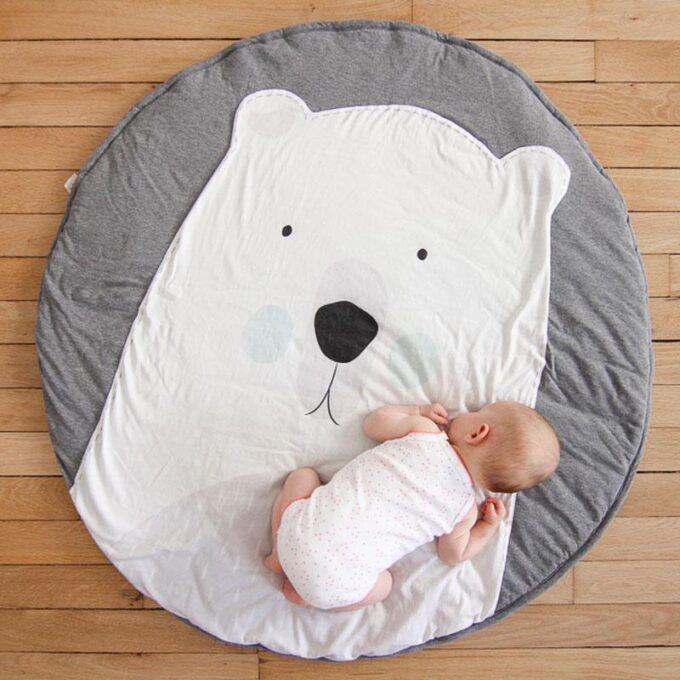 Polar Bear Tummy Time Play Mat