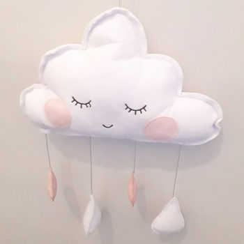 Sleepy Cloud Decorative Wall Hanging
