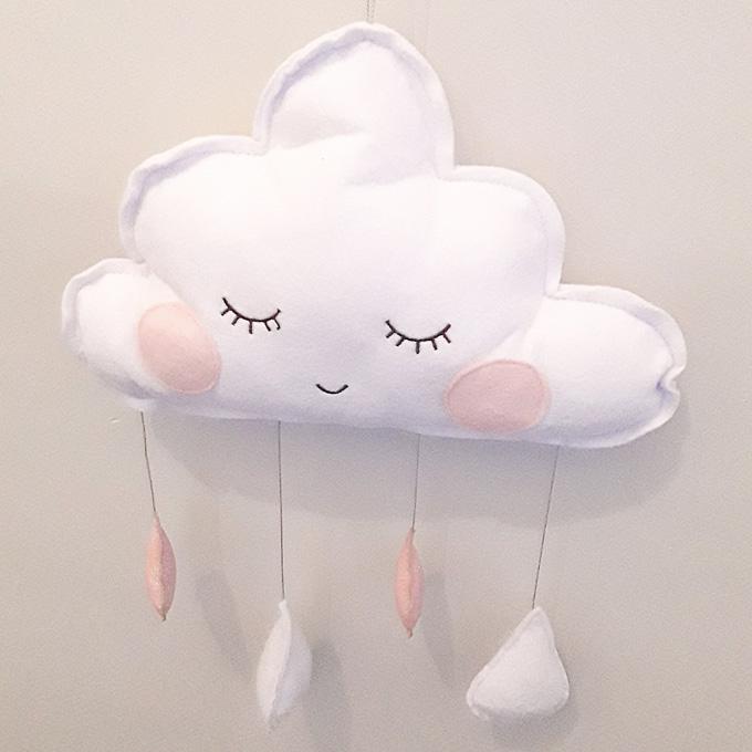 Sleepy Cloud Decorative Wall Hanging