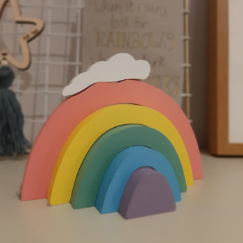 Stackable Wooden Rainbow