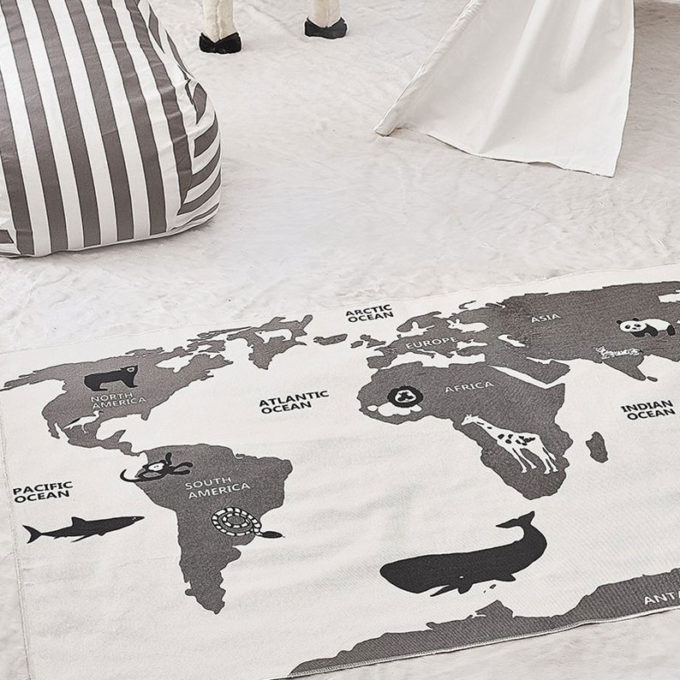 World Map Playmat