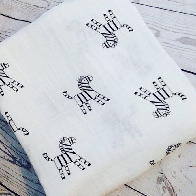 zebra baby muslin blanket
