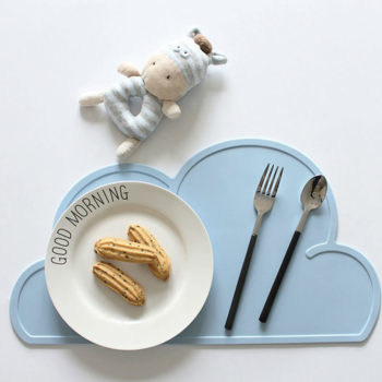 Blue Silicon Placemats for Babies