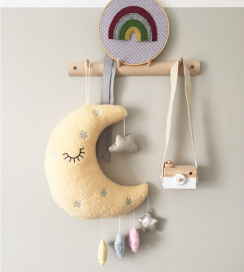 Soft Moon Toy Wall Hanging