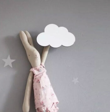 Cloud Wooden Hooks for baby room